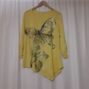 Cato Womens Yellow Top A629